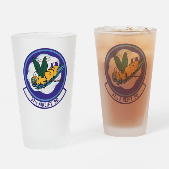 37th Airlift Squadron Drinking Glass