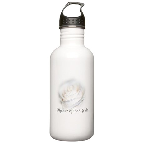 Mother Of the Bride White Ros Stainless Water Bott