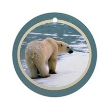 PolarBear1 Ornament (Round)