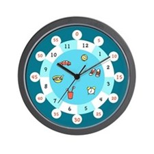 Teal Time! Wall clock with hour zones
