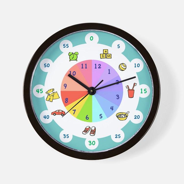 Kid clocks kid wall clocks large modern kitchen clocks for Wall clock images for kids