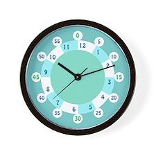 Easy Read Hourzones Clock Face in Aqua