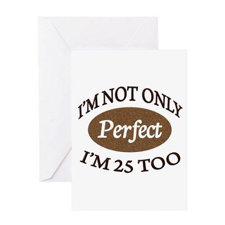 Perfect Brown 25 Greeting Cards