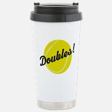 Tennis Doubles Travel Mug