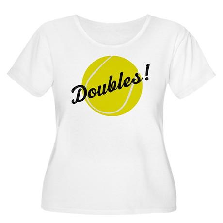 Tennis Doubles Women's Plus Size Scoop Neck T-Shir
