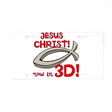3D Jesus Aluminum License Plate