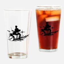 Drummer Drumming Drinking Glass