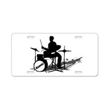 Drummer Drumming Aluminum License Plate