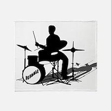 Drummer Drumming Throw Blanket