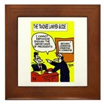 Trainee Lawyer's Framed Tile
