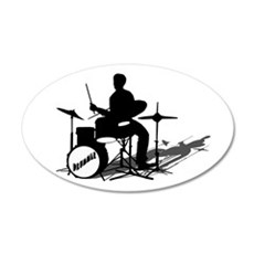 Drummer Drumming Wall Decal