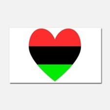 African American Flag Heart Car Magnet 20 x 12