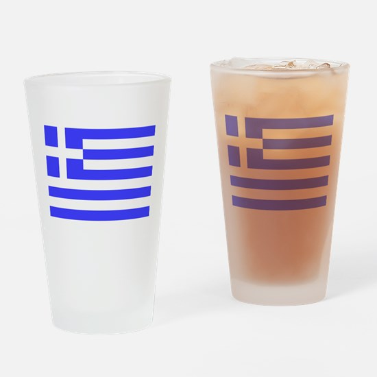 Greek Flag Drinking Glass