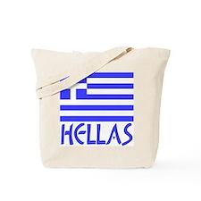 Greek Flag & Hellas Tote Bag