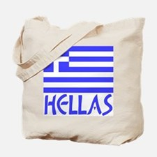 Greek Flag & Hellas Tote Bag