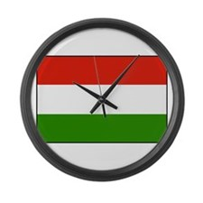 Flag of Hungary Large Wall Clock