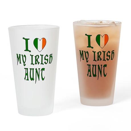 I Love My Irish Aunt Drinking Glass
