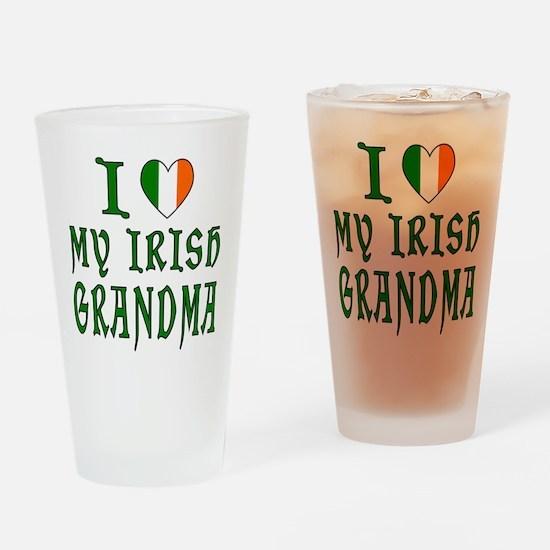 I Love My Irish Grandma Drinking Glass