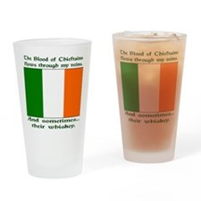 Irish Blood and Whiskey Drinking Glass