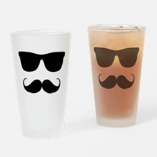 cool moustache Drinking Glass