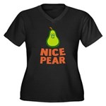 Pear Women's Plus Size V-Neck Dark T-Shirt