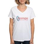 Bachmann-Palin Overdrive Women's V-Neck T-Shirt