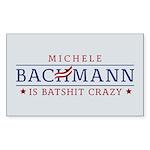 Batshit Crazy Bachmann Sticker (Rectangle 50 pk)