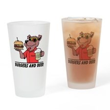 Beer & Burgers Drinking Glass