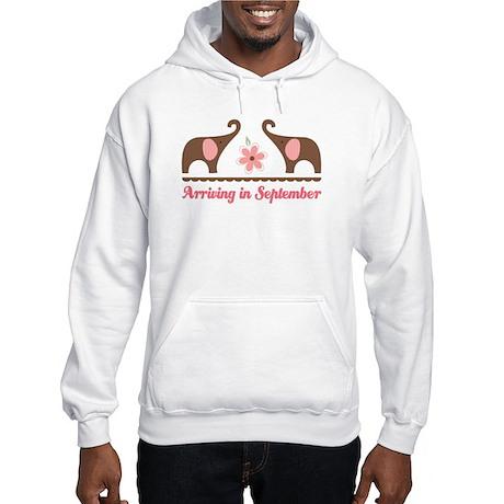 September Due Date Elephant Hooded Sweatshirt