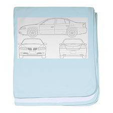 Pontiac Bonneville baby blanket