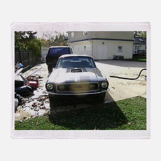 68 Mustang Throw Blanket