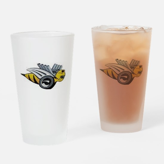 Neon Bee Drinking Glass