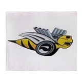 Bumble bee Fleece Blankets
