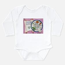 Passover Plate Long Sleeve Infant Bodysuit