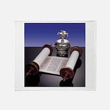 Torah Crown Throw Blanket