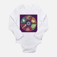 Seder Plate Other Long Sleeve Infant Bodysuit