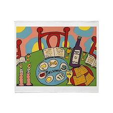 Seder Table Throw Blanket