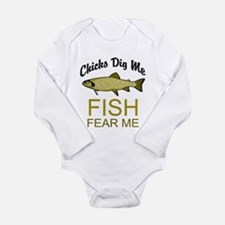 Fishing Tee Long Sleeve Infant Bodysuit