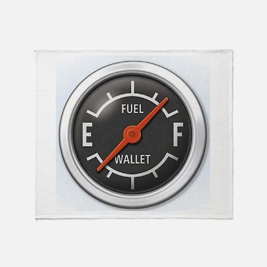Gas Gauge Throw Blanket