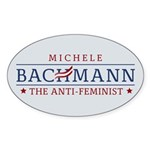 Bachmann Anti-Feminist Sticker (Oval 50 pk)
