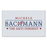 Bachmann Anti-Feminist Sticker (Rectangle)