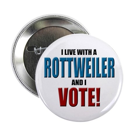 "Rottweiler Vote 2.25"" Button (10 pack)"