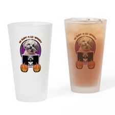 Just a Lil Spooky ShihPoo Drinking Glass