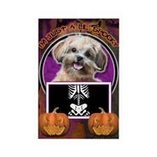 Just a Lil Spooky ShihPoo Rectangle Magnet (100 pa
