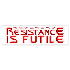 Resistance is Futile Bumper Sticker
