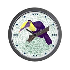 Toucan Green BG Wall Clock