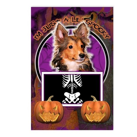 Just a Lil Spooky Sheltie Postcards (Package of 8)