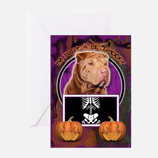 Just a Lil Spooky Shar Pei Greeting Card