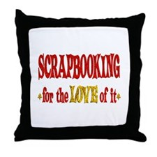 Scrapbooking Love Throw Pillow