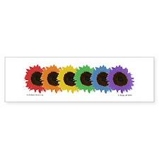 Rainbow Flowers Bumper Bumper Sticker